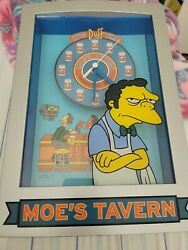 The Simpsons Moe's Tavern Wall Or Standing It's Duff Time Clock