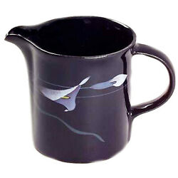 Mikasa Opus Black Creamer 3.5 Tall Made In Japan Fk701 New Never Used