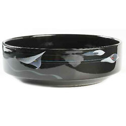 Mikasa Opus Black Round Open Vegetable Bowl Made In Japan Fk701 New Never Used