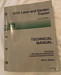 Used John Deere Technical Manual Tm1771 355d Lawn And Garden Tractor