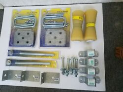 Keel Rollers Boat Trailer Clamps And Parts Axle Plate Kits Skiff Pram Bolts Nut