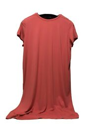 Nwt Eileen Fisher Coral Knit Viscose S/s Long Dress A-line Msrp 178. Best Offer