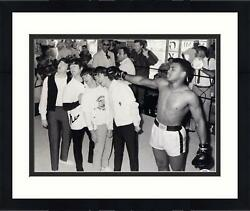 Muhammad Ali Signed 16x20 W/ The Beatles Photo Signed In Black Psa/dna Certified