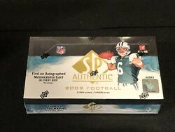 1 New Factory Sealed 2009 Upper Deck Sp Authentic Football Hobby Box Please Read
