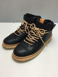 Nike Af1 Mid White Tan Leather Cork Black Size 27.5cm Sneakers From Japan