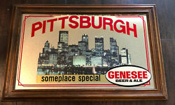 Genesee Beer And Ale Pittsburgh Advertising Bar Mirror Sign Brewing Co. Rochester