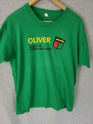Vintage Green Oliver Tractor Single Stitch T Shirt Size Xl Finest Farm Machinery