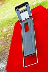 68 Mustang Deluxe Console Top Trim Pieces Super Nice Black Very Rare To Find Ori