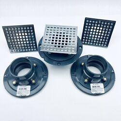 Lot Of 3 Sioux Chief 821-2pqcp Shower Drain Ring And Square Strainer