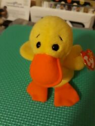 Rare Quackers Beanie Baby With Errors. Both Tags Attached, Excellent Condition.