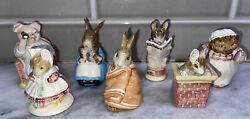 Beatrix Potter Beswick England Characters Lot of 7 Vintage Figurines