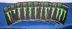 10x Monster Energy Monster Claw Stickers About 5.5 X 3 Each Sheet = 3 Stickers