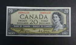 1954 20 Canadian Devils Face Banknotes Rare And Great Condition Ef+