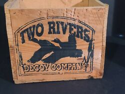 Two Rivers Decoy Company Wooden Crate 8-1/2 X 7 X 7