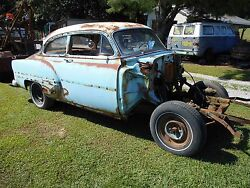 1953 1954 Chevy Belair 2 Door Post Bel Air Solid Bare Frame Chassis Project Part