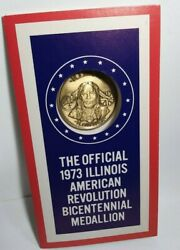 New The Official-1973 Illinois American Bicentennial Revolution Medallion