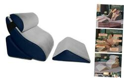 Kind Bed Orthopedic Support Wedge Pillow Comfort System 4-piece-set Grey/navy