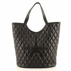 Balenciaga Wave Bucket Tote Quilted Embroidered Leather Large