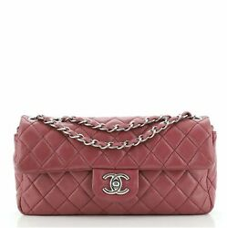 Classic Single Flap Bag Quilted Lambskin East West