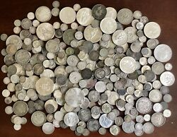 49 Troy Ounces 1800and039s To 1900and039s Us And Foreign Silver Coin Collection Lot