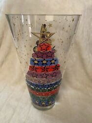 Andy Warhol 15.75 Merry Christmas Vase By Rosenthal