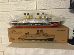 Titanic Tin Litho Toy Steam Pop Pop Boat Ship Replica Quality Toy Not For Child
