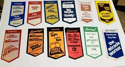 Incredible Collection Of 24 Movie Coming Attractions Usher Badges 1960's - 70's