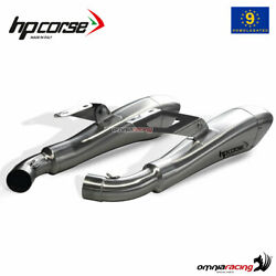 Pair Of Hpcorse Hydroform Exhaust Satin Homologated Ducati Monster 1100 1014