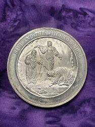 Franklin Mint Thomason Medallic Bible .925 Sterling Silver Coin. 38 Over 40g