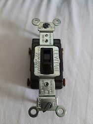 Lot Of 10 Leviton 54504 4-way Ac Brown Commercial Toggle Switch 15a-120/277v