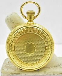 Antique Agassiz 18k Yellow Gold Hunting Case Pocket Watch Pre 1900 - 8-10 Size