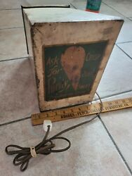 Antique Purity Ice Cream Cone Warner Dairy Store Display Sign Milk Vintage Can