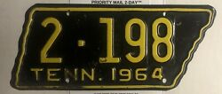 Vintage 1964 Tennessee Motorcycle License Plate Shelby County Original Paint