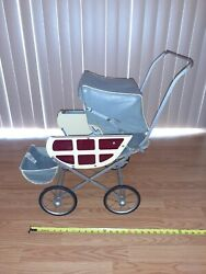 1940's Vintage Baby Stroller Metal Baby Buggy By Hartman Mfg Rare Doll Carriage