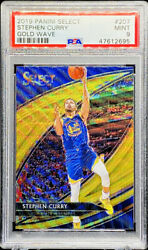 Stephen Curry 2019-20 Select Courtside Gold Wave Prizm Golden State Psa 9 Pop 6