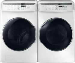 Samsung Wv55m9600aw Washer And Dvg55m9600w Gas Dryer Side-by-side Set White