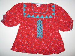 New Traditional Tarahumara Authentic Mexican Blouse Hand Made Size L ? XL ?