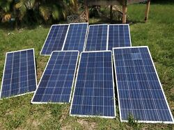 8pcs Of 150w Solar Panel Power System With Inverter Converter And Battery