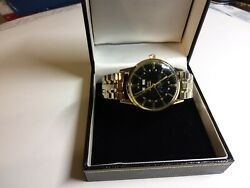 Zodiac Moon Phase Triple Calendar Date Black Dial Automatic Vintage Watch 1960and039s