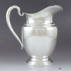 Classic International Solid Sterling Silver Water Pitcher 4.5 Pints 9 No Mono