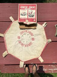 Vtg 50-60's Jumpin Jiminy Canvas Tube Cover Floating Trampoline Toy 3 Foot Wide