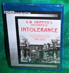New Cohen Film Collection D.w. Griffith Intolerance 2 Disc Movie Blu Ray 1916