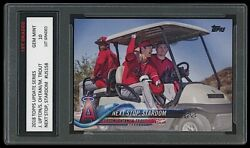 Shohei Ohtani / Mike Trout 2018 Topps Update 1st Graded 10 Stardom Rookie Card