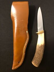 Gerber C300a Hunting Knife -stag Handle -vintage Collection