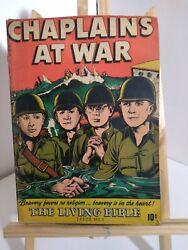 Vintage The Living Bible-chaplains At War Comic Book-issue 3-1946