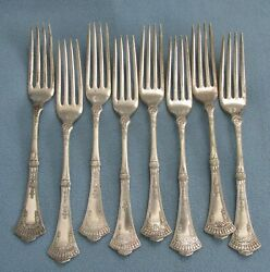 Set Of 8 Rogers And Bro. Crown Dinner Forks C. 1885 No Mono