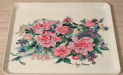 Design Imports Ltd Melamine Floral Serving Tray Made In Italy Angie Strauss