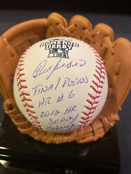 Yoenis Cespedes 2013 Home Run Derby Signed Game Used Hr Ball Mlb Auth All Star