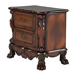 Traditional Night Stand 2 Layer Drawer Bedside End Table Organizer Bedroom Brown