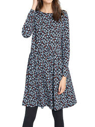 New Sea Mirror Cotton Dress - Painted Speedwell Hail By Seasalt Rrp Ws £55.00
